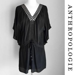 Anthropologie Leifsdottier Silk Kimono Mini Dress